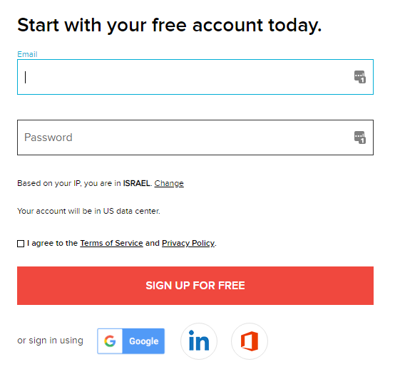 signup forms zoho