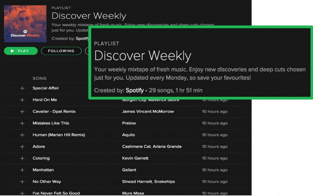 discover weekly פרסונליזציה בשיווק דיגיטלי