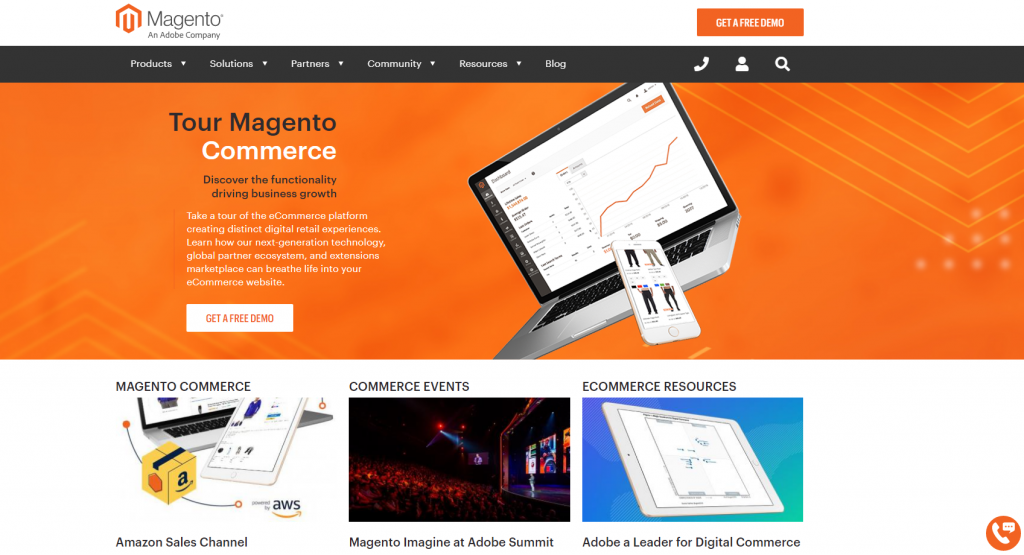 magento build ecommerce wesbite
