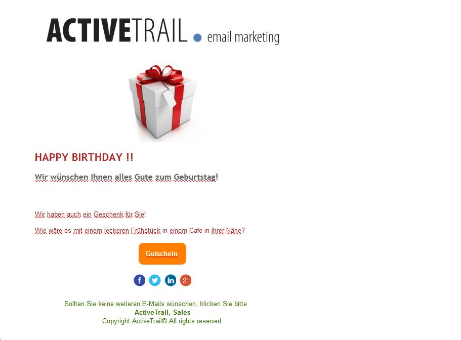 Geburtstags-E-Mail
