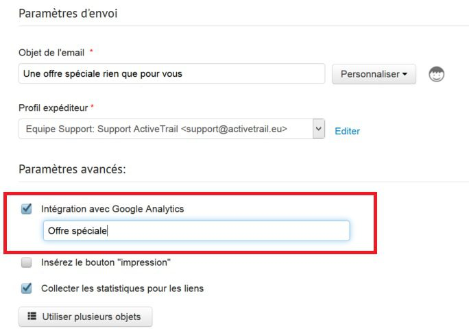 Integration Google Analytics