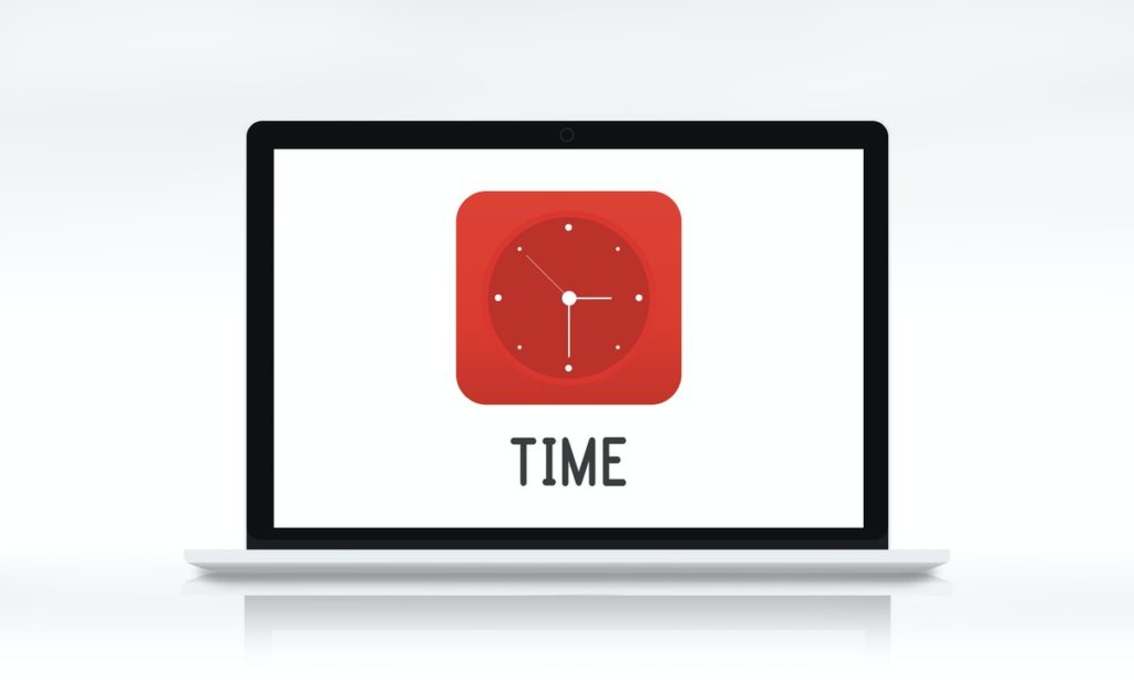 time on laptop screen