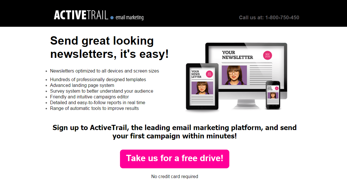 how to create a professional landing page i activetrail
