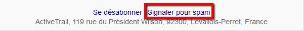 signaler pour spam