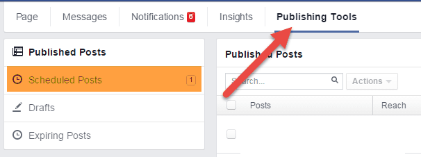 Facebook publishing tools