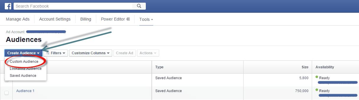 remarketing using facebook code