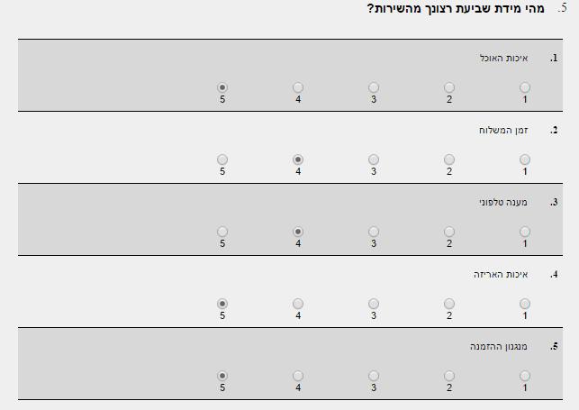 בחירת יחידה בסקרים במערכת אקטיב טרייל