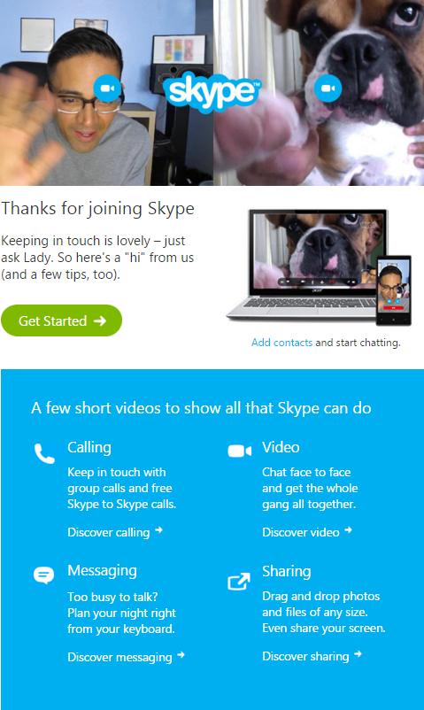 Mail Skype