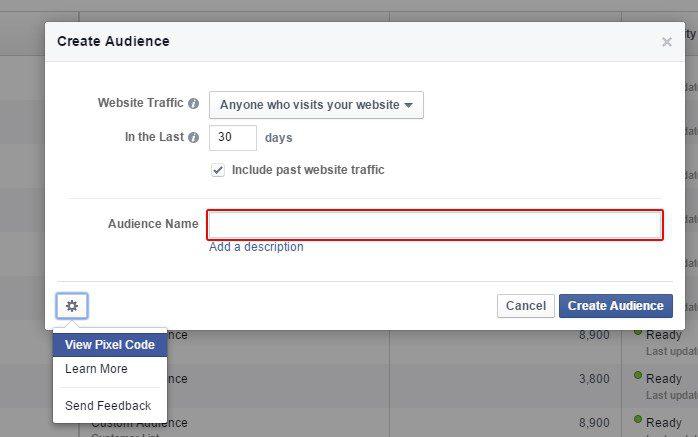 Remarketing pour facebook