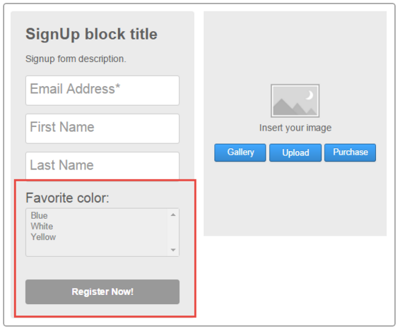 SignUp block title