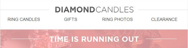 Diamond candles header