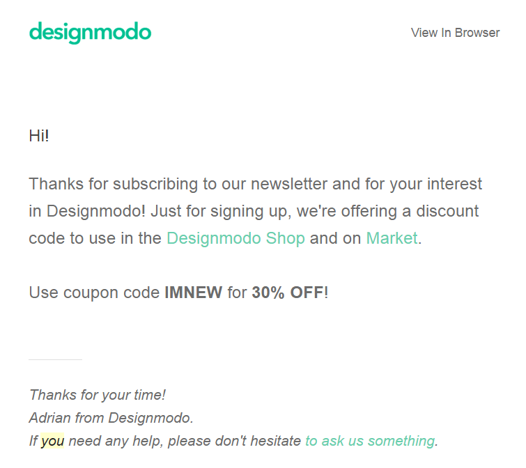coupon designmodo
