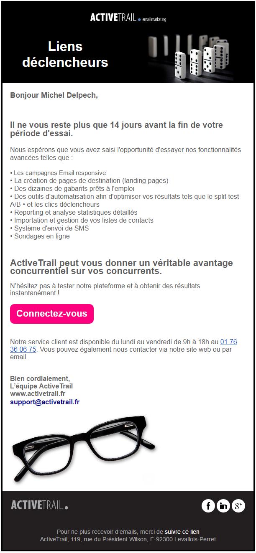 Mail ActiveTrail 14 jours