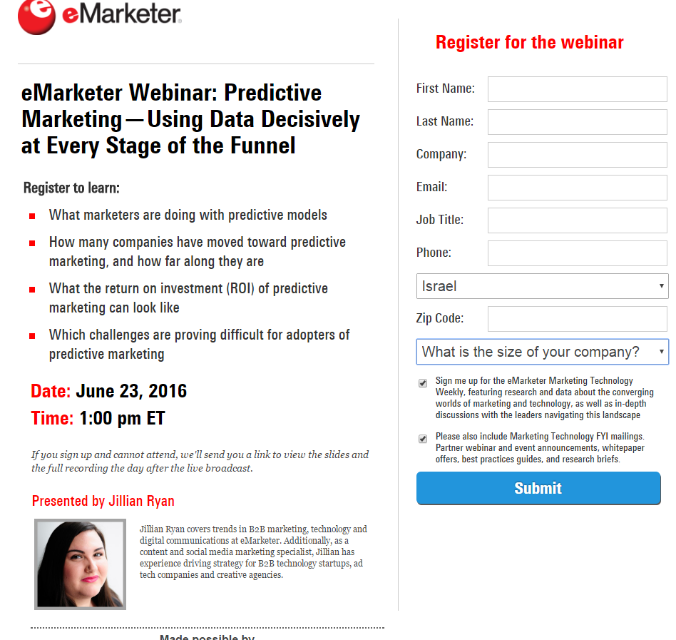 eMarketer registration
