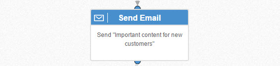 send important content to new customers