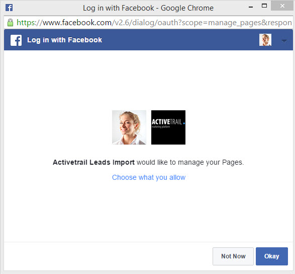 Facebook Lead Ads - synchro