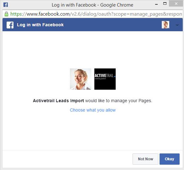 Facebook Lead Ads - synchro