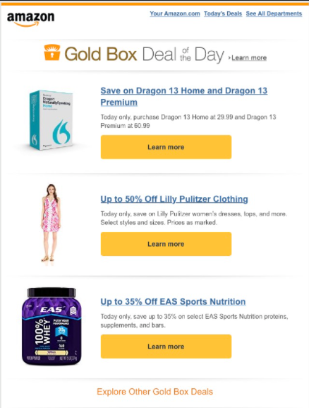 amazon personalized email